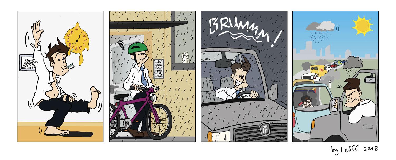 Purpur-Comic zum Wetter