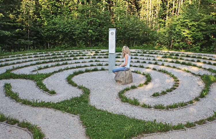 Spiralförmiger Meditationsweg aus Nesselwang